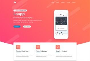 Laapp – Premium Responsive App Landing Page HTML5 Template