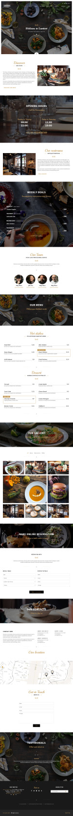 5+ Best Responsive Cafe and Bar HTML5 Templates in 2015