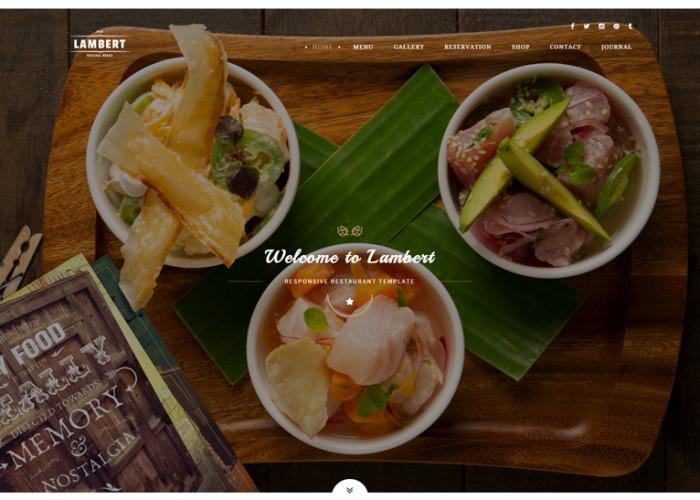 Lambert – Premium Responsive Restaurant / Cafe / Pub HTML5 Template