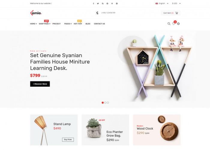 Lamia – Premium Responsive E-commerce Bootstrap 4 Template