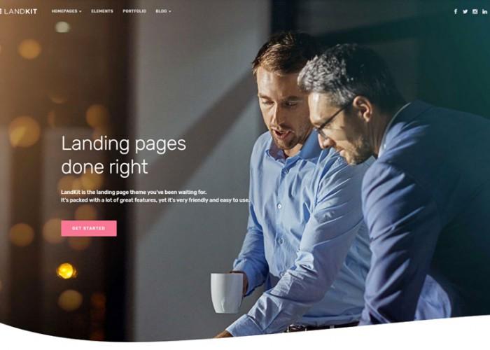 Landkit – Premium Responsive WordPress Landing Page Theme