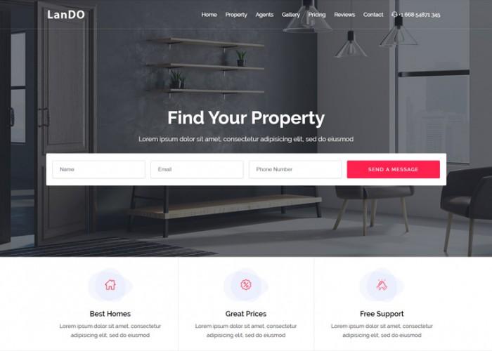 LanDo – Premium Responsive Real Estate HTML5 Template