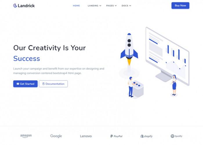 Landrick – Premium Responsive Angular 11 Landing Page HTML5 Template