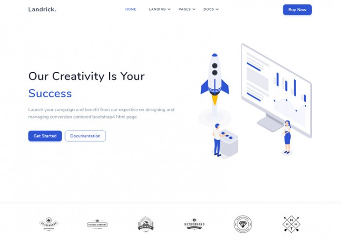 Landrick – Premium Responsive React Landing Page HTML5 Template