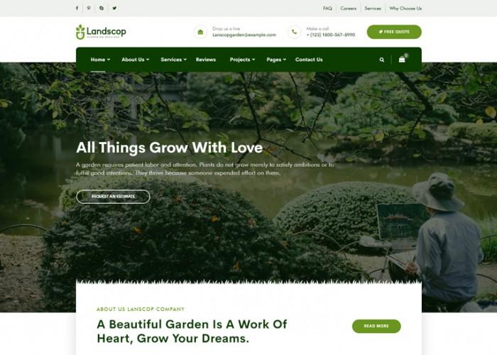 Landscop – Premium Responsive Garden Landscaping WordPress Theme