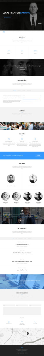 Best Responsive Lawyers and Attorneys HTML5 Templates 2014