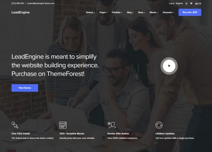 LeadEngine – Premium Responsive Multi-Purpose WordPress Theme