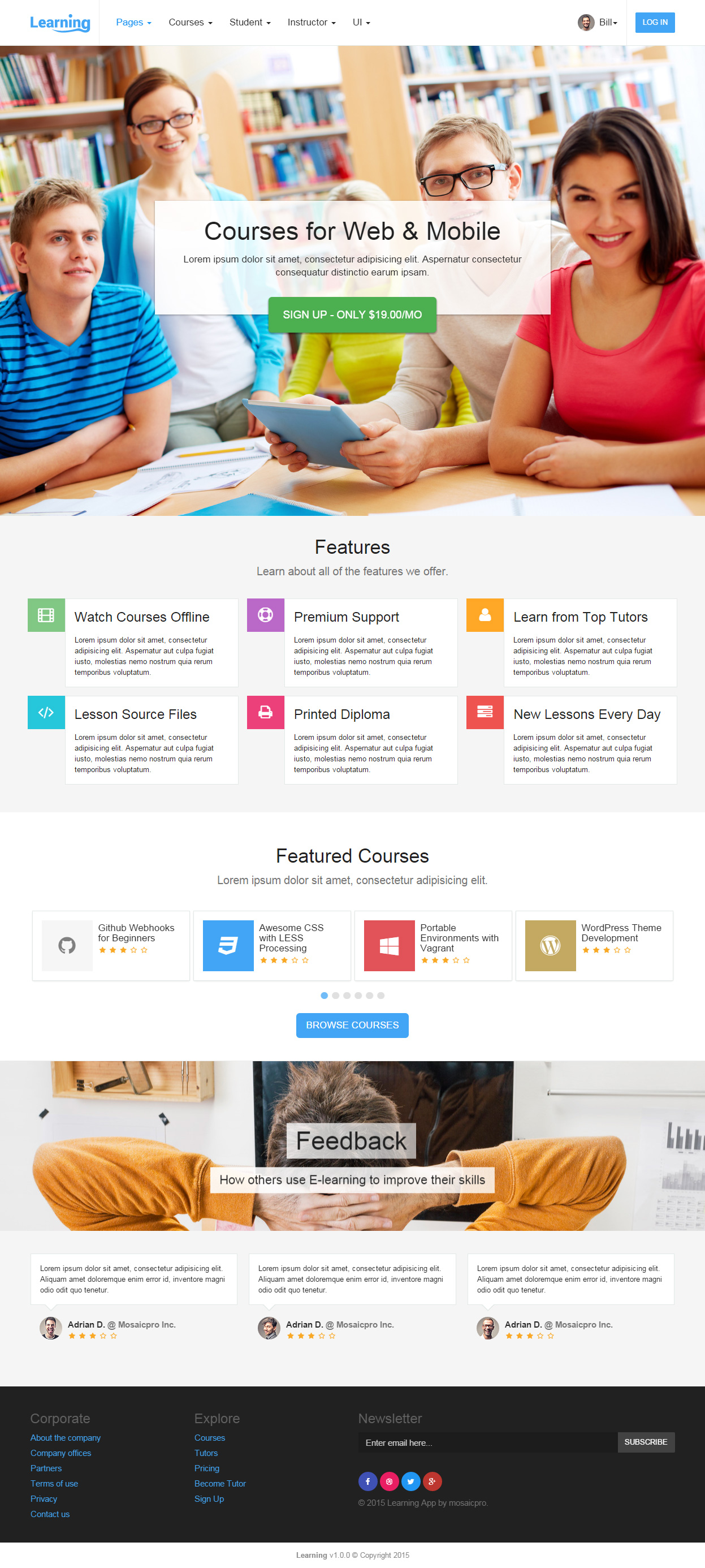 Best Responsive Html5 Learning Management System Templates In 2015