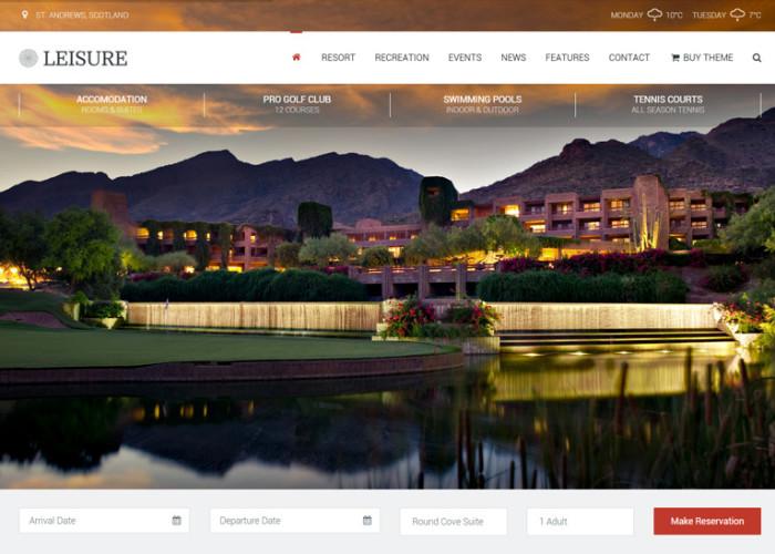 Leisure – Premium Responsive Hotel, Resort & Spa WordPress Theme