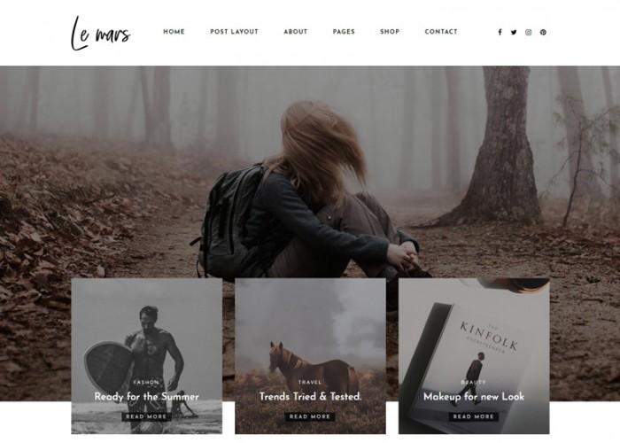 Lemars – Premium Responsive Personal Blog WordPress Theme