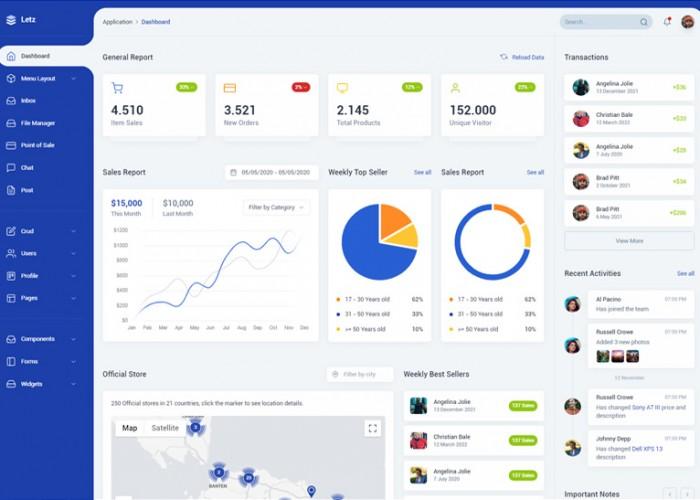 Letz – Premium Responsive Laravel Admin Dashboard HTML5 Template
