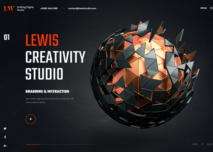 Lewis – Premium Responsive Creative Portfolio & Agency HTML5 Template