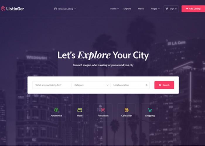 Listinger – Premium Responsive Directory & Listing WordPress Theme