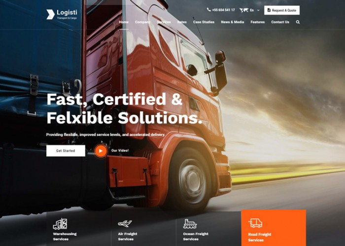 Logisti – Premium Responsive Logistics & Transport HTML5 Template