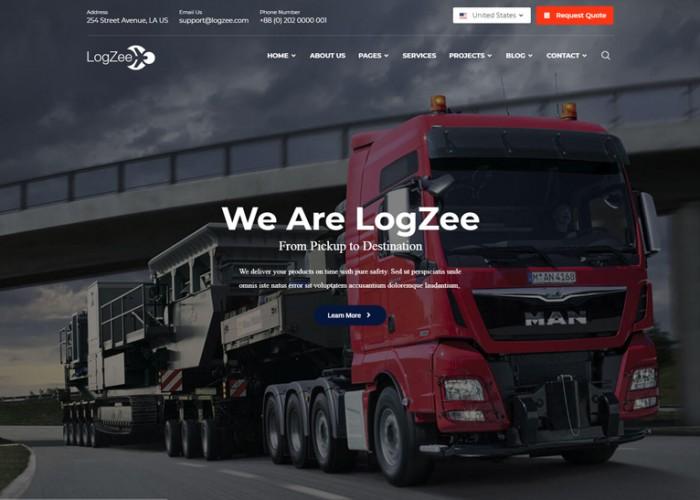 Logzee – Premium Responsive Logistics Transportation HTML5 Template