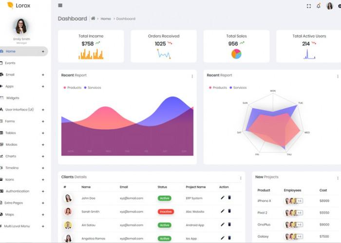 Lorax – Premium Responsive Angular 7 Admin HTML5 Template
