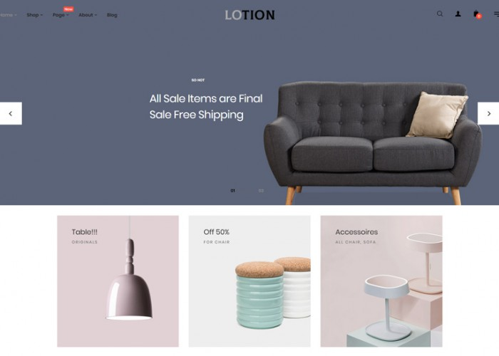 Lotion – Premium Responsive Interior Home Decor Prestashop Theme