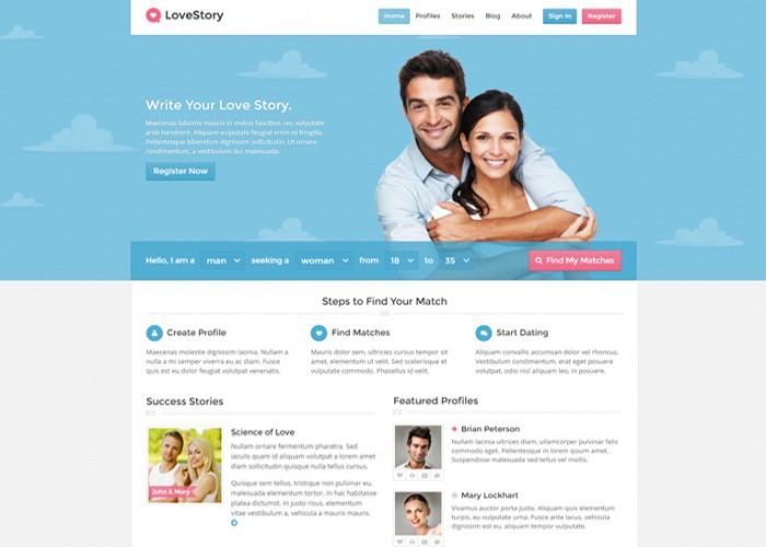 LoveStory – Premium Responsive Dating WordPress Theme