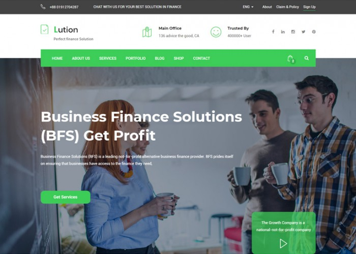 Lution – Premium Responsive Finance and Business HTML5 Template