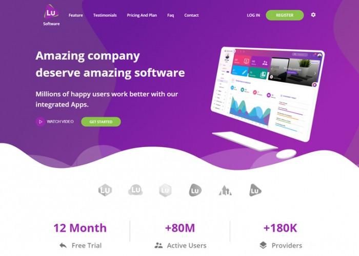 Luxiren – Premium Responsive React JS Landing Page HTML5 Template