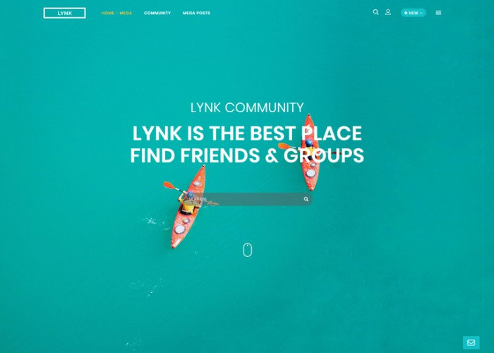 Lynk – Premium Responisve Social Networking and Community WordPress Theme