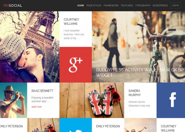 (M) Social – Premium Responsive Metro WordPress Theme