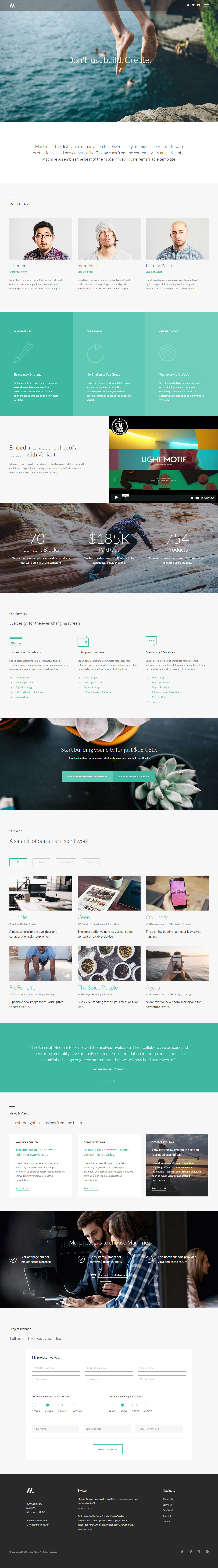 40 Best HTML5 One Page Website Templates 2017 - Responsive Miracle