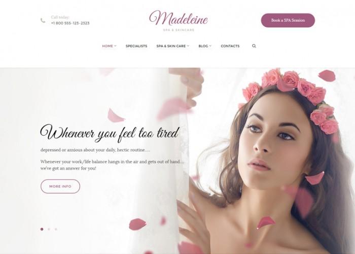 Madeleine – Premium Responsive Spa Health & Skincare WordPress Theme