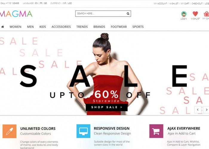 MAGMA – Premium Responsive Magento Fashion Theme