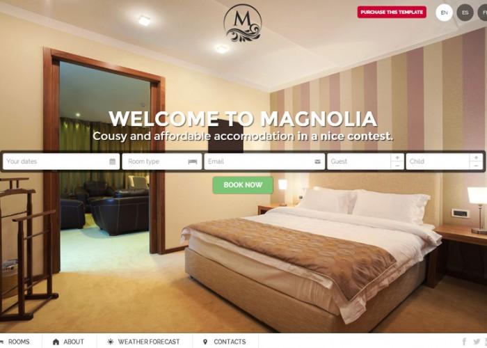 Magnolia – Premium Responsive Hotel HTML5 Template