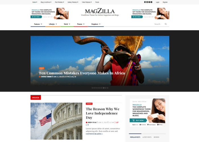 MagZilla – Premium Responsive Newspapers, Magazines and Blogs WordPress Theme