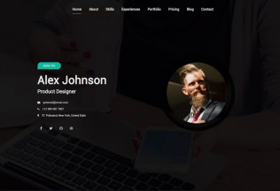 Maha – Premium Responsive CV/Resume HTML5 Template