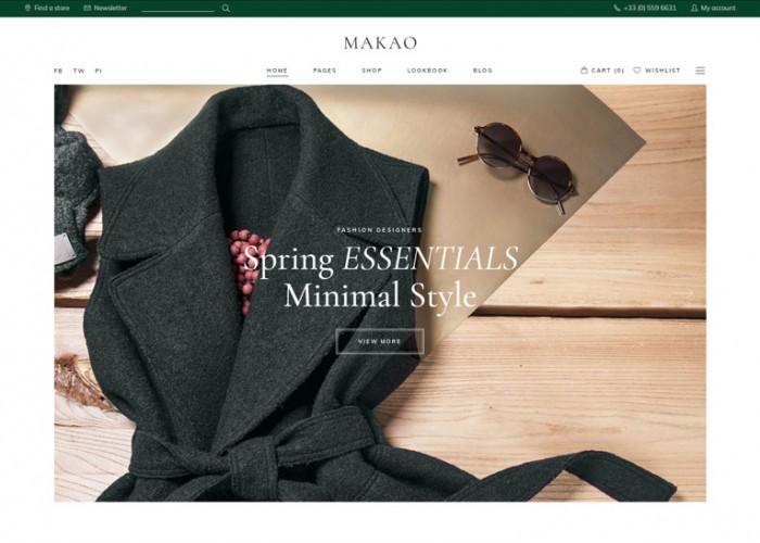 Makao – Premium Responsive Fashion Shop WordPress Theme