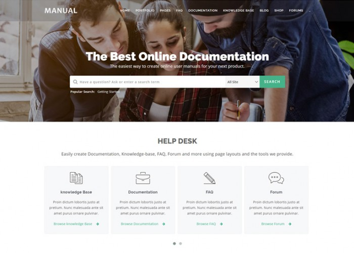 Manual – Premium Responsive Online Documentation WordPress Theme