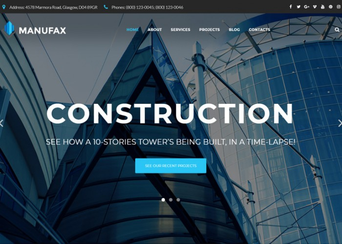 Manufax – Premium Responsive Construction WordPress Theme
