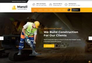 Manzil – Premium Responsive Construction Building WordPress Theme