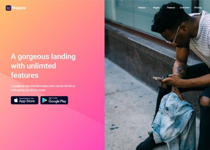 Mappox – Premium Responsive App Landing Page HTML5 Template