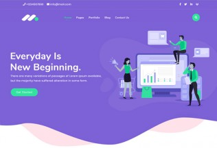 Markethon – Premium Responsive Marketing Agency HTML5 Template