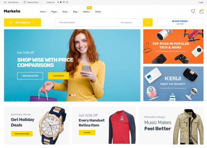 Marketo – Premium Responsive eCommerce WordPress Theme