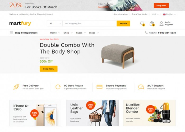 Martfury – Premium Responsive React Ecommerce HTML5 Template