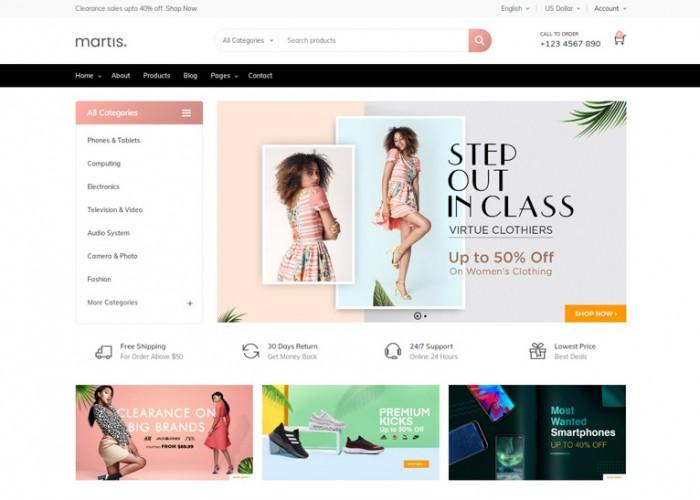 Martis – Premium Responsive Commerce Drupal 8 Theme