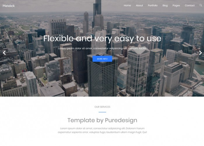 Matelick – Premium Responsive Corporate Drupal 8 Theme