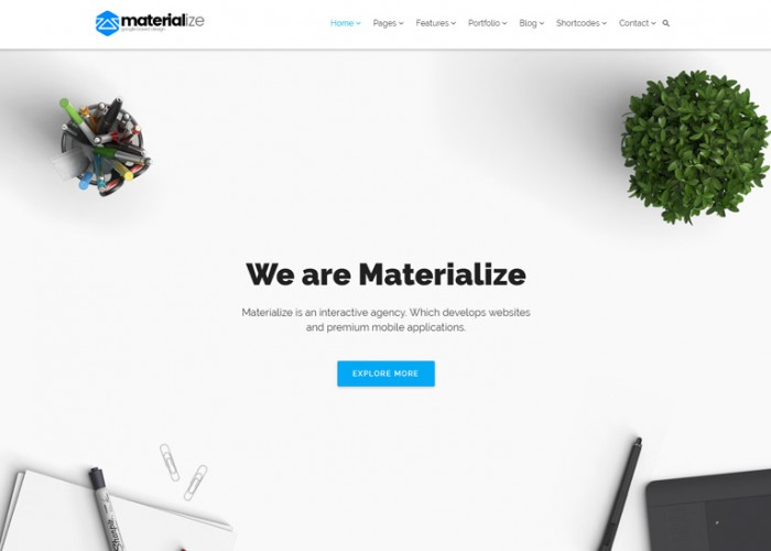 Materialize – Premium Responsive Material Design Multipurpose WordPress Theme