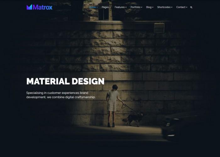 Matrox – Premium Responsive Material Design Multi-Purpose HTML5 Template