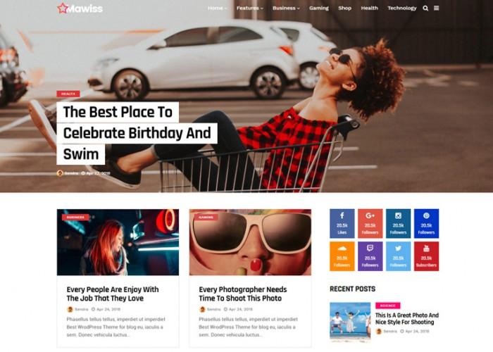 Mawiss – Premium Responsive Blog Magazine WordPress Theme