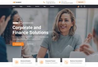 Maxbizz – Premium Responsive Consulting & Financial WordPress Theme