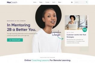 MaxCoach – Premium Responsive Online Courses Vue HTML5 Template