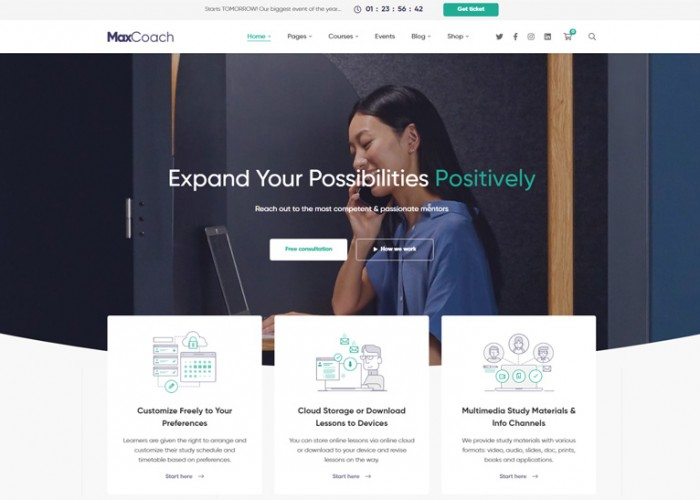 MaxCoach – Premium Responsive Online Courses WordPress Theme