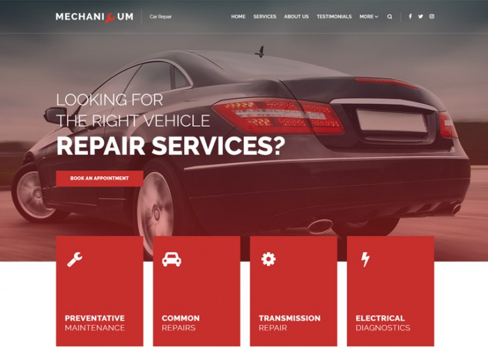 Mechanicum – Premium Responsive Car Repair WordPress Theme