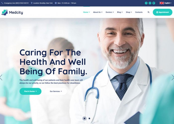Medcity – Premium Responsive Health & Medical HTML5 Template